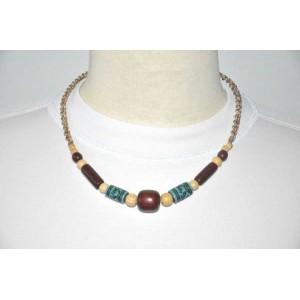 Collier en perles de bois exotique du br sil produit for Artisanat pernambouc bresil