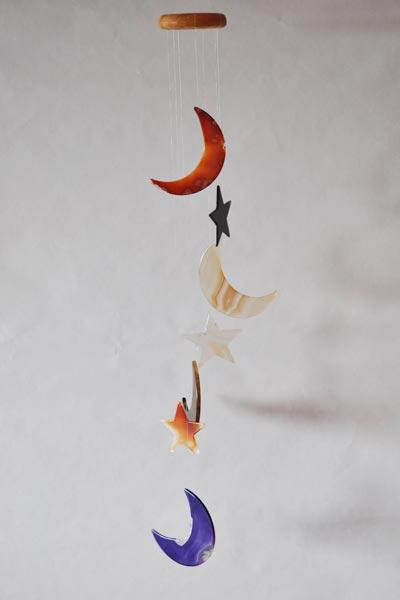 Les Carillons à vent grand format en forme de Lune